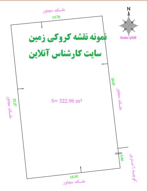 نقشه کروکی زمین توسط مهندس نقشه بردار تهران